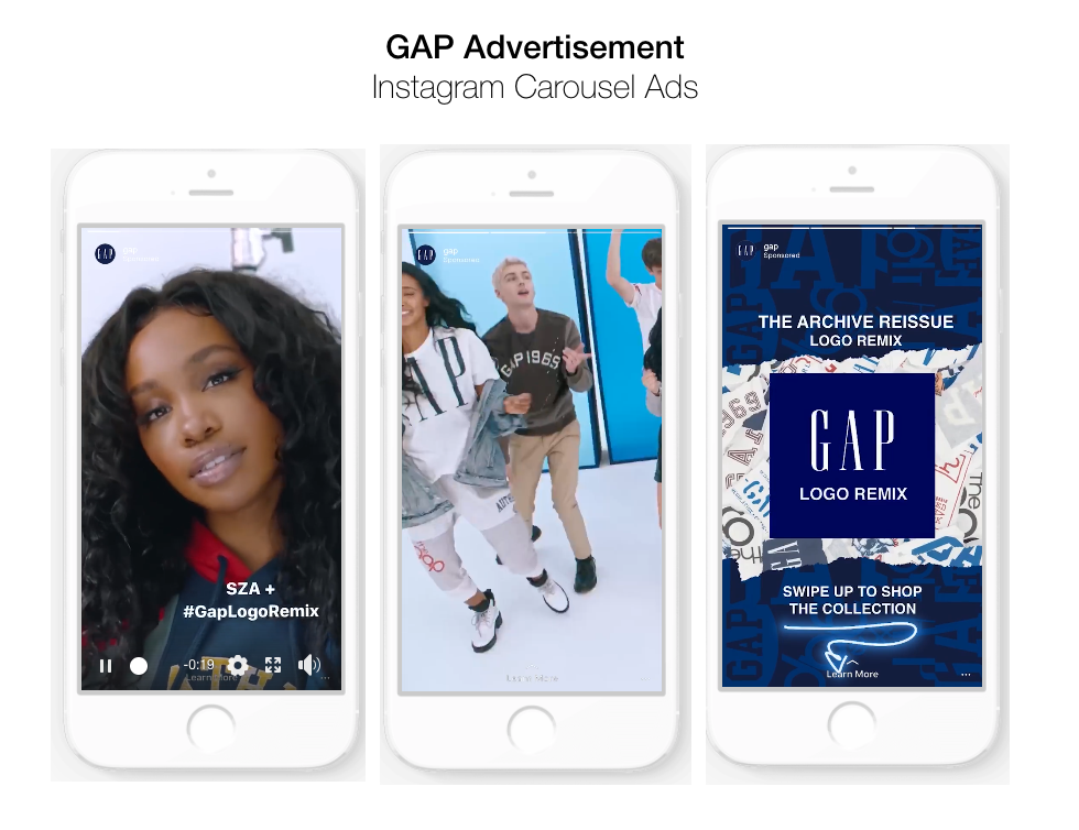 Carousel Ads For Instagram Stories Gap Campaign